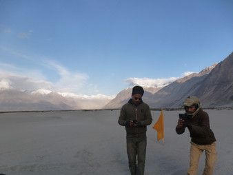 The mountains of the Nubra Valley.