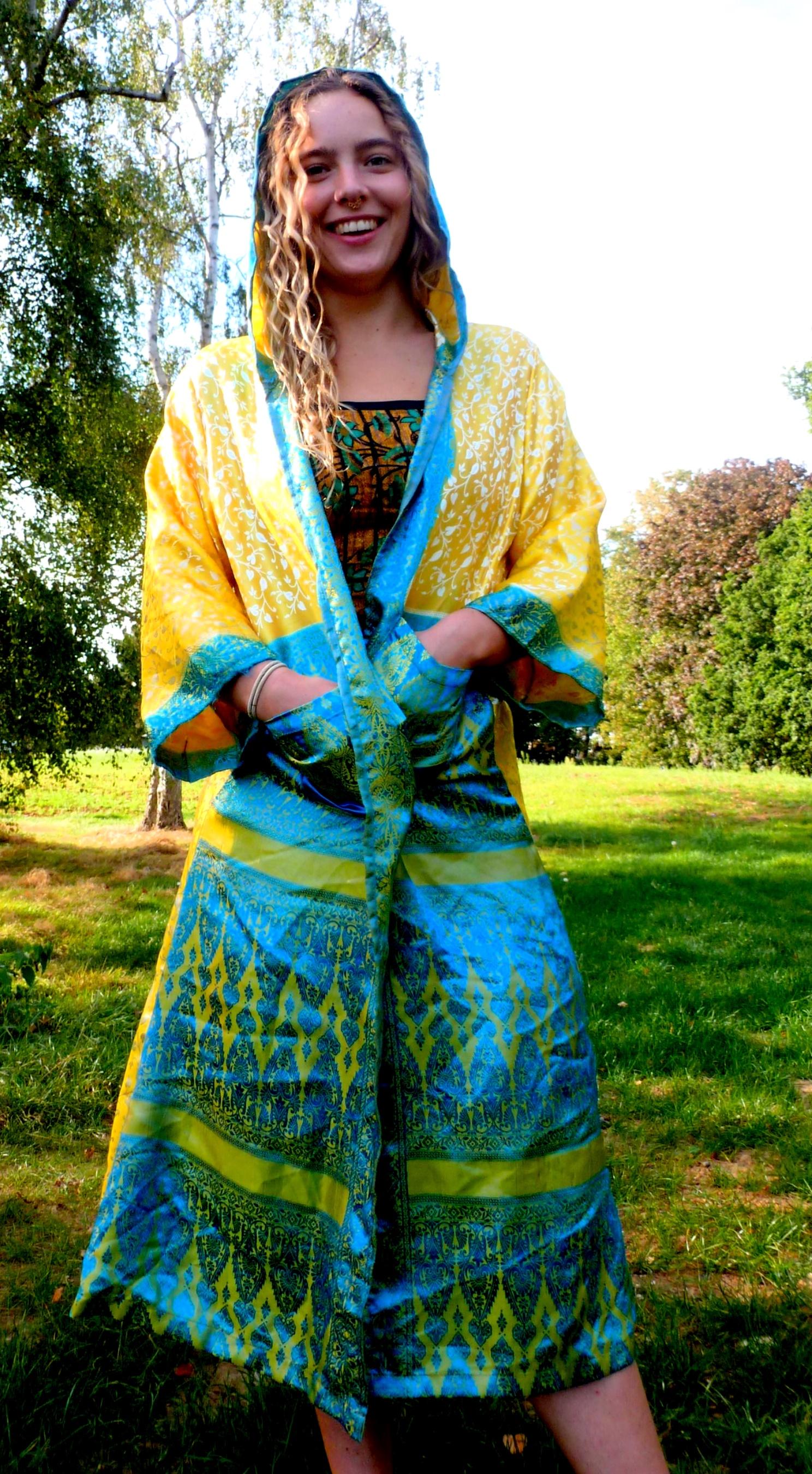 Hooded Goddess Kimono