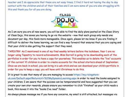 Year 1 Weekly Newsletter 4th May