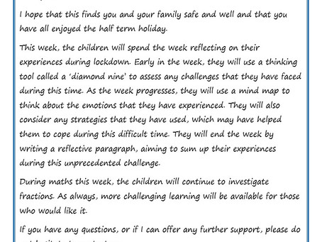 Year 6 Weekly Newsletter 8th June