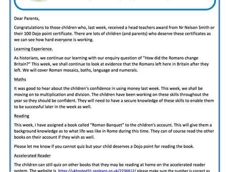 Year 3 Weekly Newsletter 11th May