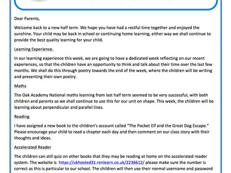 Year 3 Weekly Newsletter 8th June