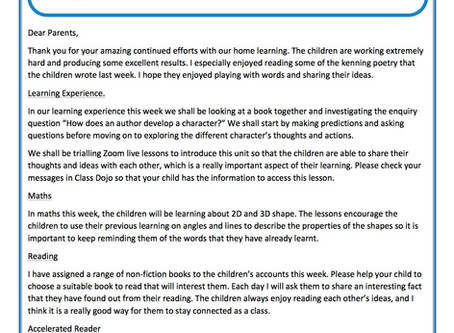 Year 3 Weekly Newsletter 15th June