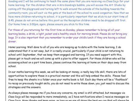 Year 1 Weekly Newsletter 29th June