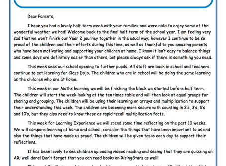 Year 2 Weekly Newsletter 8th June