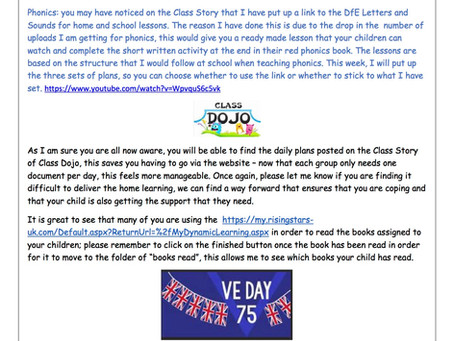 Year 1 Weekly Newsletter 11th May