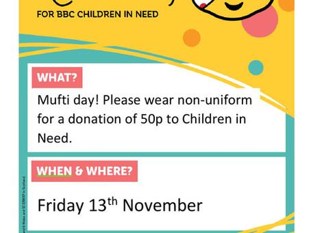 Children In Need - Friday 13th Nov