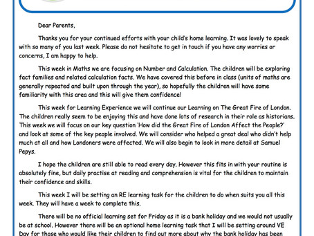 Year 2 Weekly Newsletter 4th May