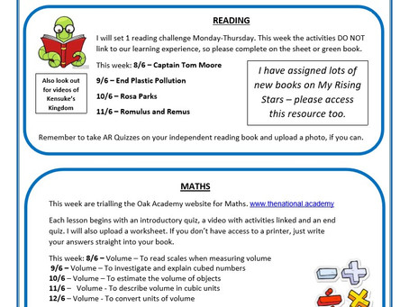 Year 5 Weekly Newsletter 8th June