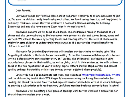 Year 2 Weekly Newsletter 22nd June