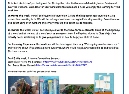 Reception Weekly Newsletter 29th June