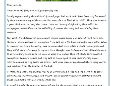Year 6 Weekly Newsletter 11th May