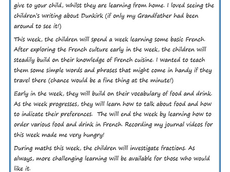 Year 6 Weekly Newsletter 18th May