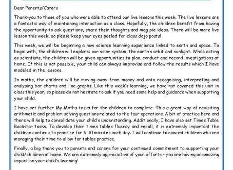 Year 4 Weekly Newsletter 29th June