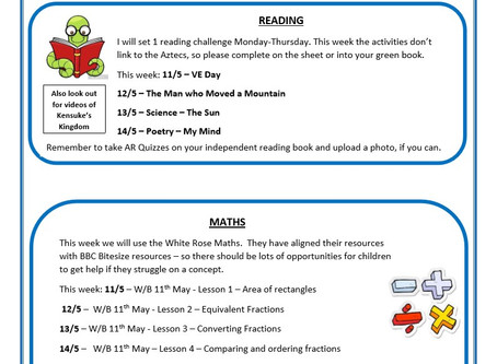 Year 5 Weekly Newsletter 11th May