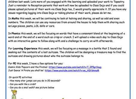 Reception Weekly Newsletter 22nd June
