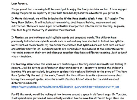 Reception Weekly Newsletter 8th June