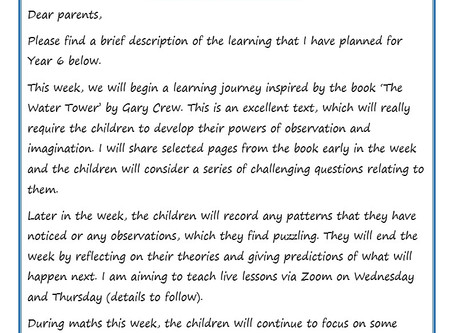 Year 6 Weekly Newsletter 29th June