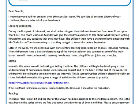 Year 3 Weekly Newsletter 13th July