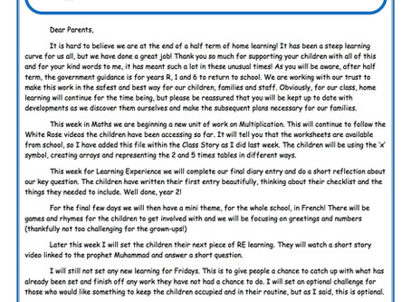 Year 2 Weekly Newsletter 18th May
