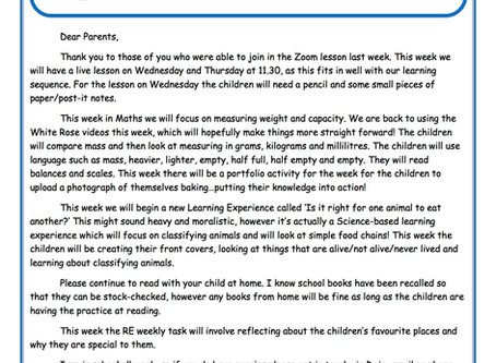 Year 2 Weekly Newsletter 29th June