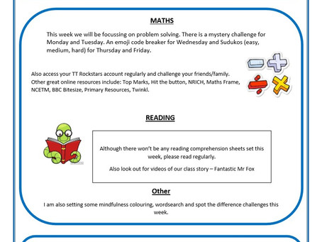 Year 5 Weekly Newsletter 13th July