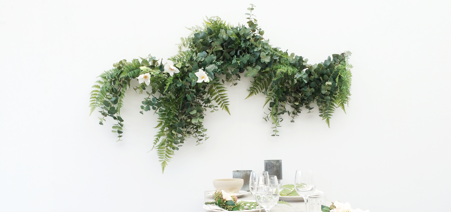 Green fake garland