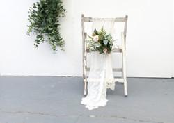 Chairback flowers