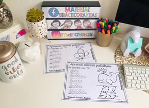 Aprende y traza el abecedario en cursiva