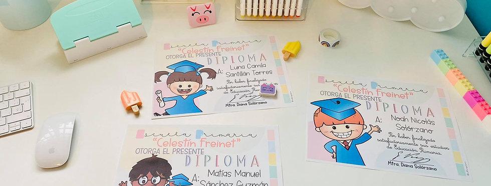 Diplomas de Graduación Primaria Editables