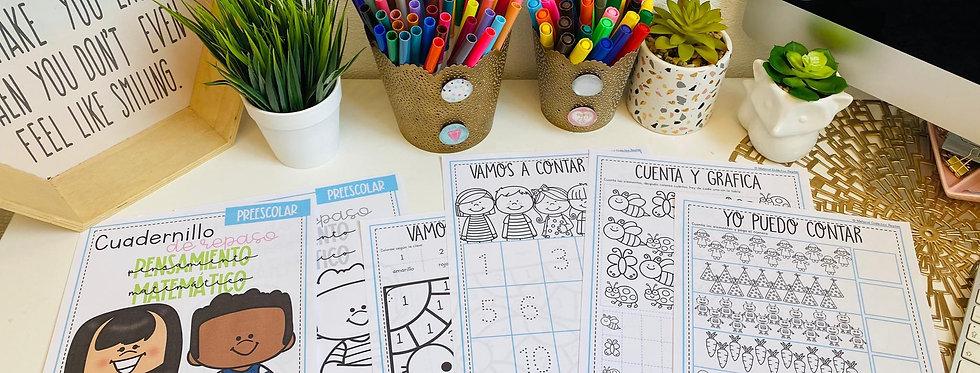 Cuadernillo Pensamiento Matemático Preescolar