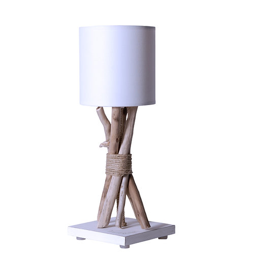 Lampe de chevet en bois flotté Fagot