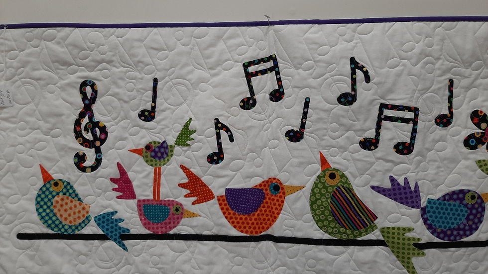 Quilted Bird Wall Hanging