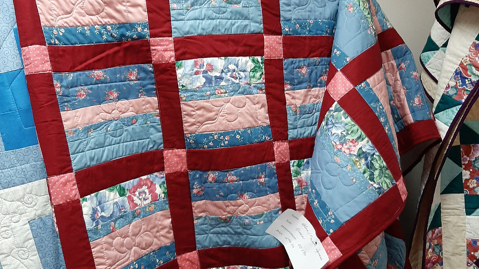 Blue and Mauve Quilt