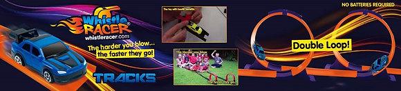 Double Loop Orange Tracks + Whistle Racer