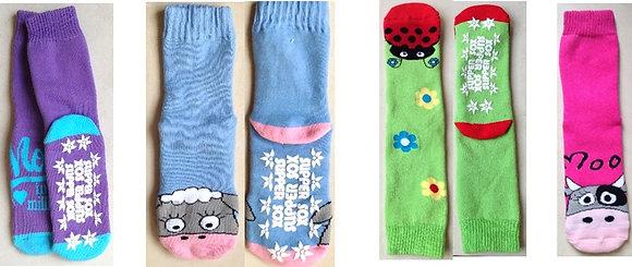 Ladies Long Slipper socks (non-slip)