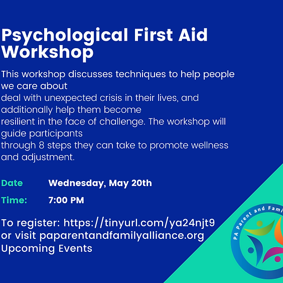 Psychological First Aid Workshop