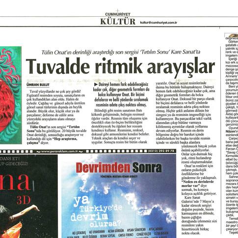 2011, 1; Tuvalde ritmik arayışlar