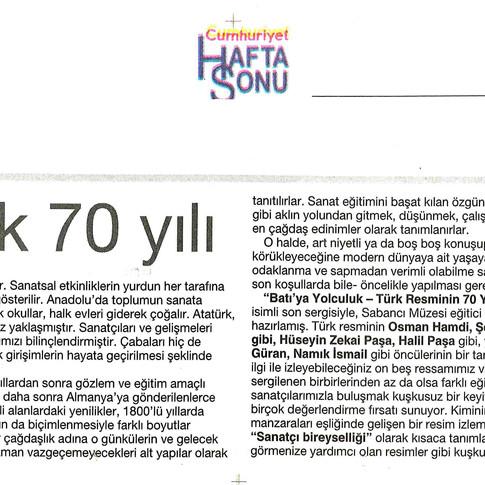 2009, 16; Türk resminin ilk 70 yılı