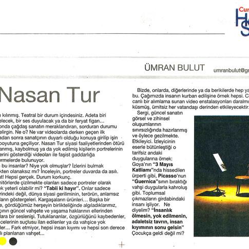 2009, 20; Güncel sanatçı Nasan Tur