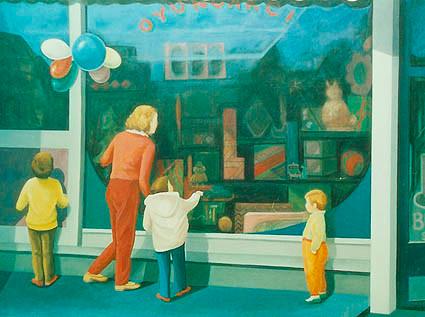 Vitrin. T.Ü.Y.B. 100 x 125 cm. 1984.