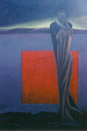 Çift. T.Ü.Y.B. 60 x 40 cm. 1996.