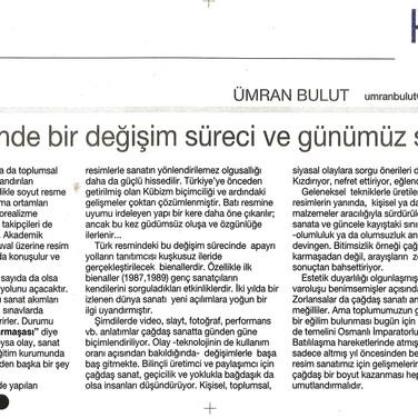 2008, 25; Türk resminde bir değişim süreci ve günümüz sanatı