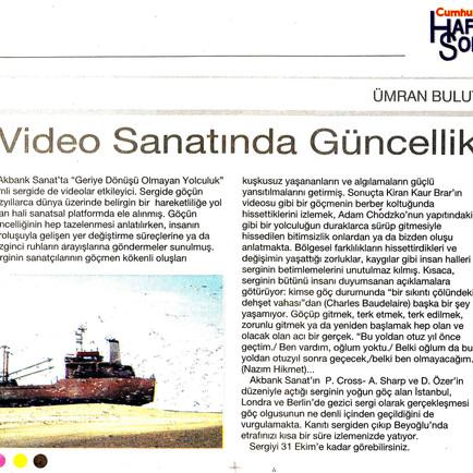 2009, 33; Video Sanatında Güncellik