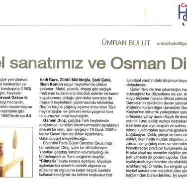 2009, 1; Heykel sanatımız ve Osman Dinç