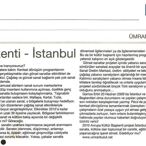 2009, 22; Avrupa Kültür Başkenti - İstanbul