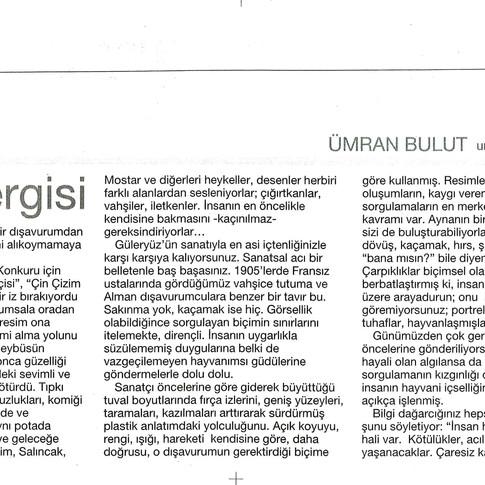 2009, 8; Mehmet Güleryüz sergisi