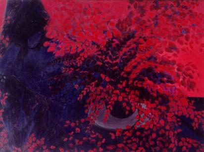 Genç Kız. T.Ü.Y.B. 81 x 102 cm. 1995.
