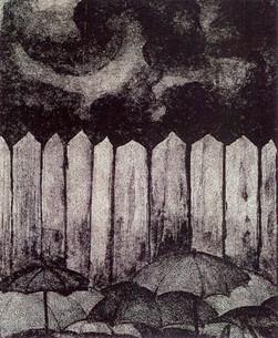 Yağmur. Litografi. 32 x 23 cm. 1982