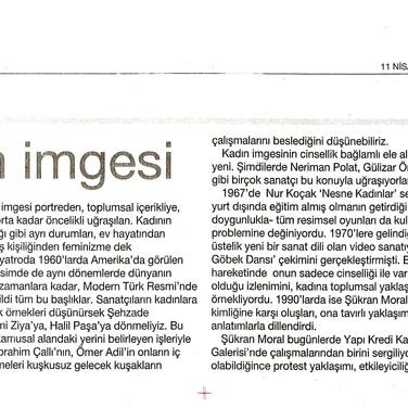 2009, 14; Yeni resim, kadın imgesi